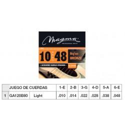 GUIT. ACÚSTICA (CUERDA METÁLICA) MAGMA GA120B80