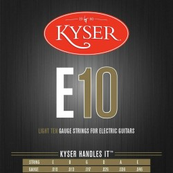 CUERDA KYSER E10 GUITARRA ELECTRICA JGO